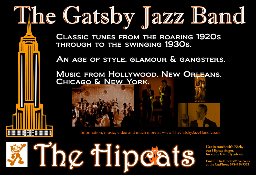The Gatsby Jazz Band Hire - 1920s & 1930s jazz and swing band for hire - UK.